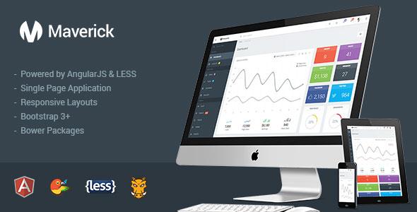 Maverick v1.0.3 – Responsive Admin with AngularJS Free Download ...