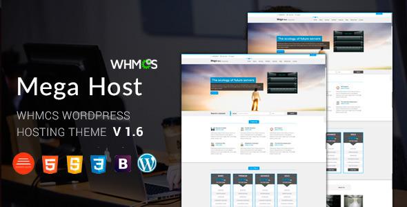 Megahost v1.7 – Hosting, Technology, Software And WHMCS WordPress ...