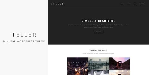 Teller – Minimal & Responsive Portfolio/Blog WordPress Theme Free ...