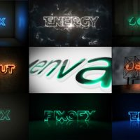 VIDEOHIVE MULTI LIGHT KIT – FIRE LIGHT NEON ENERGY COMPOSER – AFTER EFFECTS TEMPLATES