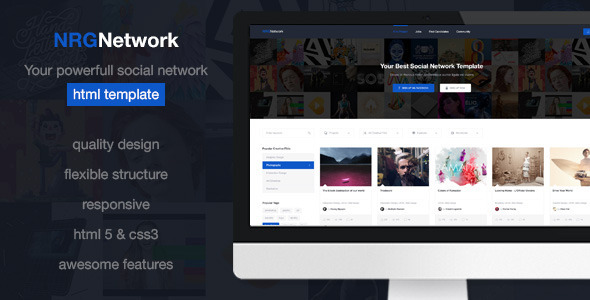 Nrgnetwork your powerful social network template free for Social networking sites free templates download