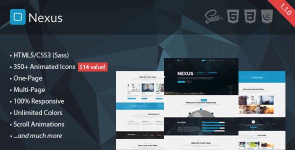 Nexus – Responsive Multipurpose HTML5 Template Free Download - Free