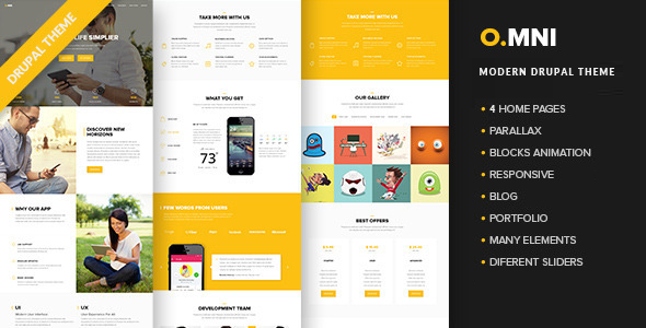 Omni v1. 2. 5 powerful one and multipage app wp theme free download.
