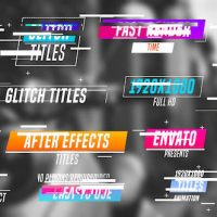 VIDEOHIVE COLOURFUL GLITCH TITLES FREE AFTER EFFECTS TEMPLATE