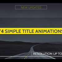 VIDEOHIVE SIMPLE TITLES – V3 FREE AFTER EFFECTS TEMPLATE