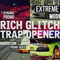 VIDEOHIVE RICH GLITCH TRAP OPENER – AFTER EFFECTS TEMPLATES