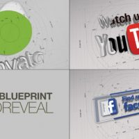 VIDEOHIVE RADIAL BLUEPRINT LOGO REVEAL FREE DOWNLOAD
