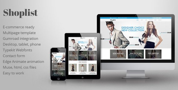 Shoplist V1 0 Ecommerce Muse Template Free Download Free After