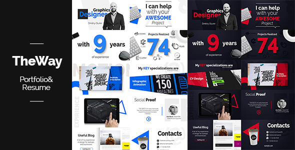 videohive theway - portfolio  u0026 resume - after effects template