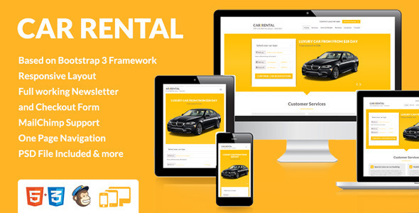 Car Rental Landing Page [Update] Free Download - Free After Effects