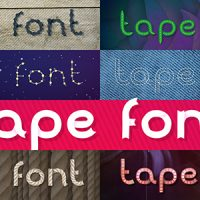 VIDEOHIVE TUNABLE TAPE FONT FREE AFTER EFFECTS TEMPLATE
