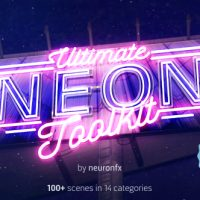 VIDEOHIVE ULTIMATE NEON TOOLKIT – NEON SIGN MOCKUP KIT – AFTER EFFECTS TEMPLATE
