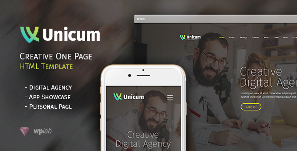 Unicum – One Page Creative HTML Template Free Download - Free After ...