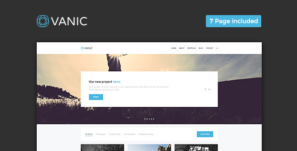 Vanic – Clean Multipurpose Portfolio Muse Template Free Download