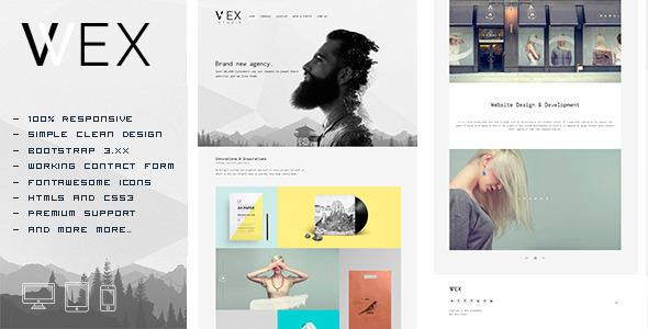 wex minimalistic html portfolio template free download free