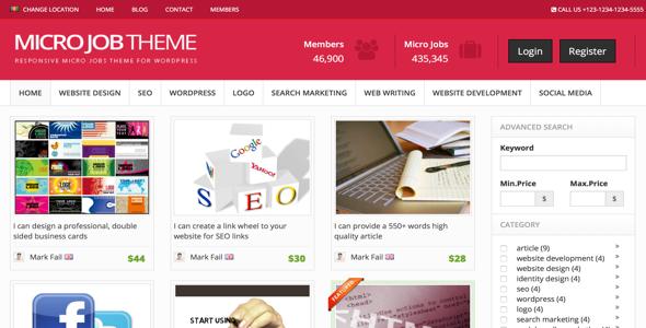 WordPress Micro Jobs Theme v8 3 – PremiumPress Free Download
