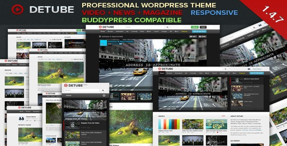 deTube v1 4 9 Professional Video WordPress Theme Free Download