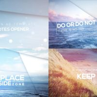 VIDEOHIVE INSPIRING QUOTES OPENER – AFTER EFFECTS TEMPLATES