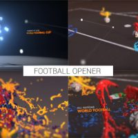 VIDEOHIVE COLOURFUL FOOTBALL OPENER – AFTER EFFECTS TEMPLATES