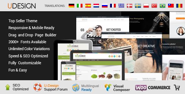 U Design Theme WordPress  Themeforest Nulled