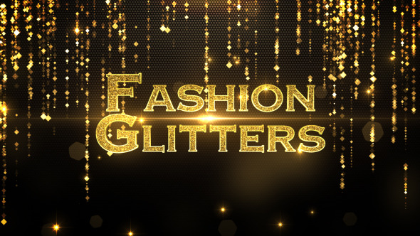 VIDEOHIVE FASHION GLITTERS - FREE AFTER EFFECTS PROJECT - Free After