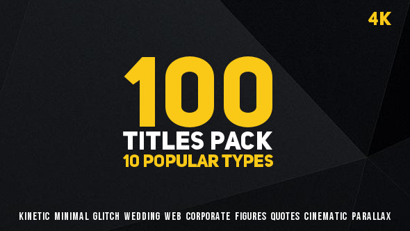 100 Titles Pack (10 popular types)