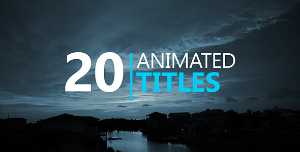 Videohive 20 Animated Titles Free After Effects Template Free