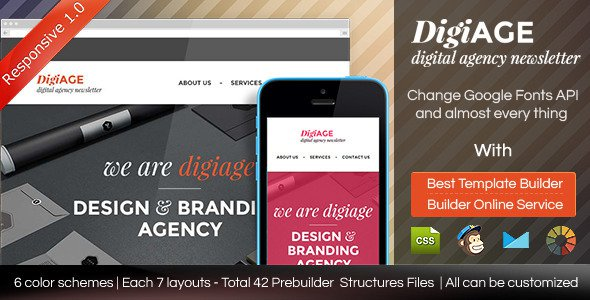AGENCY v1.01 – Responsive Email Template With Builder Free Download ...