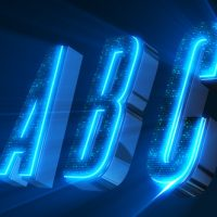 ALPHABET 3D NEON LED – ABC AND SOCIAL MEDIA ICONS FREE DOWNLOAD