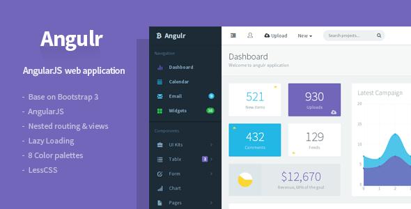 Angulr v2.0.1 – Bootstrap Admin Web App with AngularJS Free ...