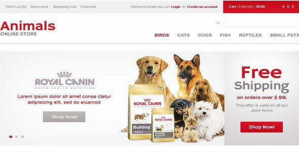 animals store opencart template templatemonster 40157 free