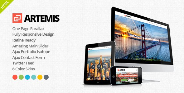 artemis responsive one page parallax theme free download free