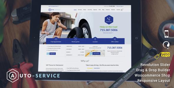 Car Repair Services Auto Mechanic WordPress Theme Nulled