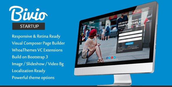 Bivio v1.3.1 – Bootstrap 3 App Landing Page WordPress Free Download ...