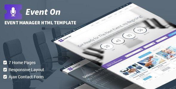 Event On Responsive HTML Template Free Download - Free After Effects ...
