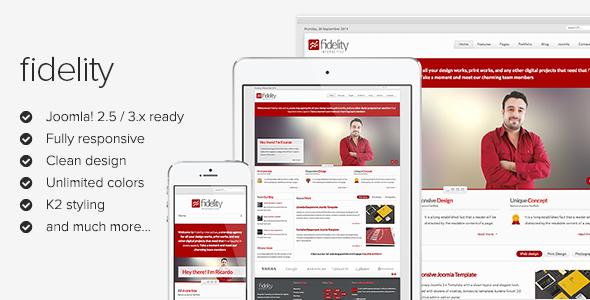Fidelity v1.2.1 – Clean Responsive Joomla 2.5 & 3.x Template Free ...