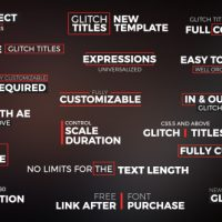 VIDEOHIVE GLITCH TITLES FREE AFTER EFFECTS TEMPLATE
