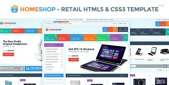 Home Shop v1.2 – Retail HTML5 & CSS3 Template Free Download - Free ...