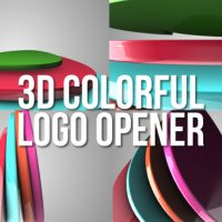 VIDEOHIVE 3D COLORFUL LOGO OPENER FREE AFTER EFFECTS TEMPLATE