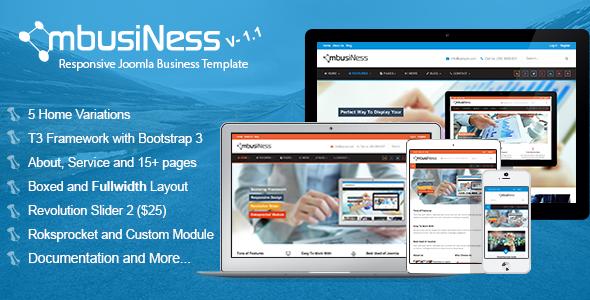 MbusiNess v1 1 – Responsive Joomla Business Template 3 x