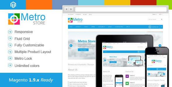 Metro Store v1.2 – Responsive Premium Magento Theme Free Download ...