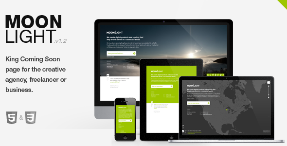 MoonLight v1 4 6 – Responsive coming soon Page HTML Free