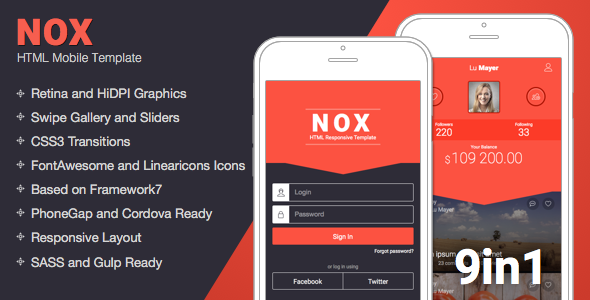nox v1 5 mobile responsive template free download free after
