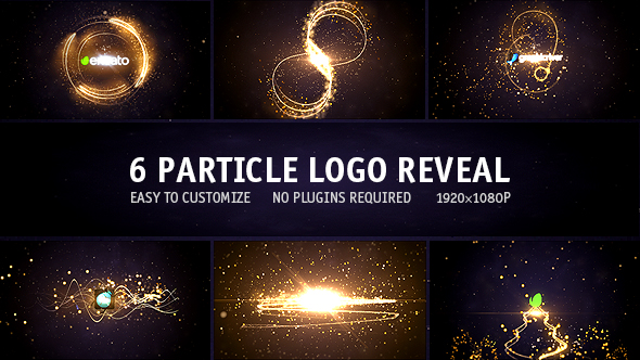 Particle Logo Reveal Pack 6in1 Free After Effects Template - Free