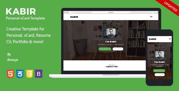 kabir v1 0 personal vcard template free download