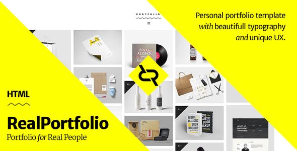 RealPortfolio v1 0 – Personal Portfolio Template Free Download