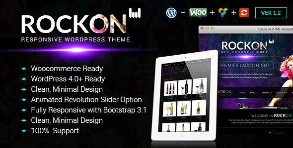 Rockon v1.2 – Responsive WordPress Theme Free Download - Free After ...