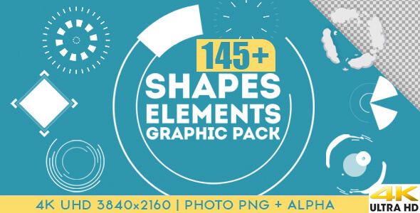 Shapes elements graphic pack motion graphic videohive for After effect motion graphics templates
