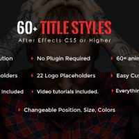 VIDEOHIVE SIXTYPLUS – 60+ TITLE STYLES FREE AFTER EFFECTS TEMPLATE