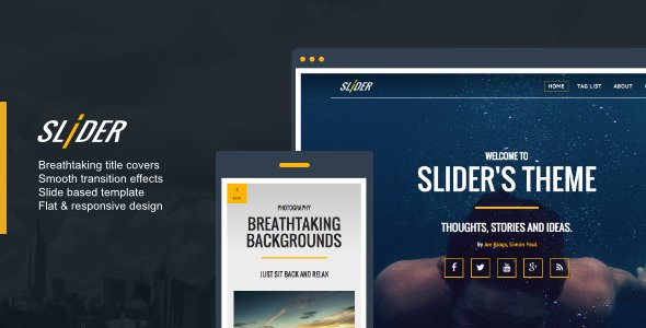 Slider V1 0 1 Responsive Media Driven Ghost Theme Free